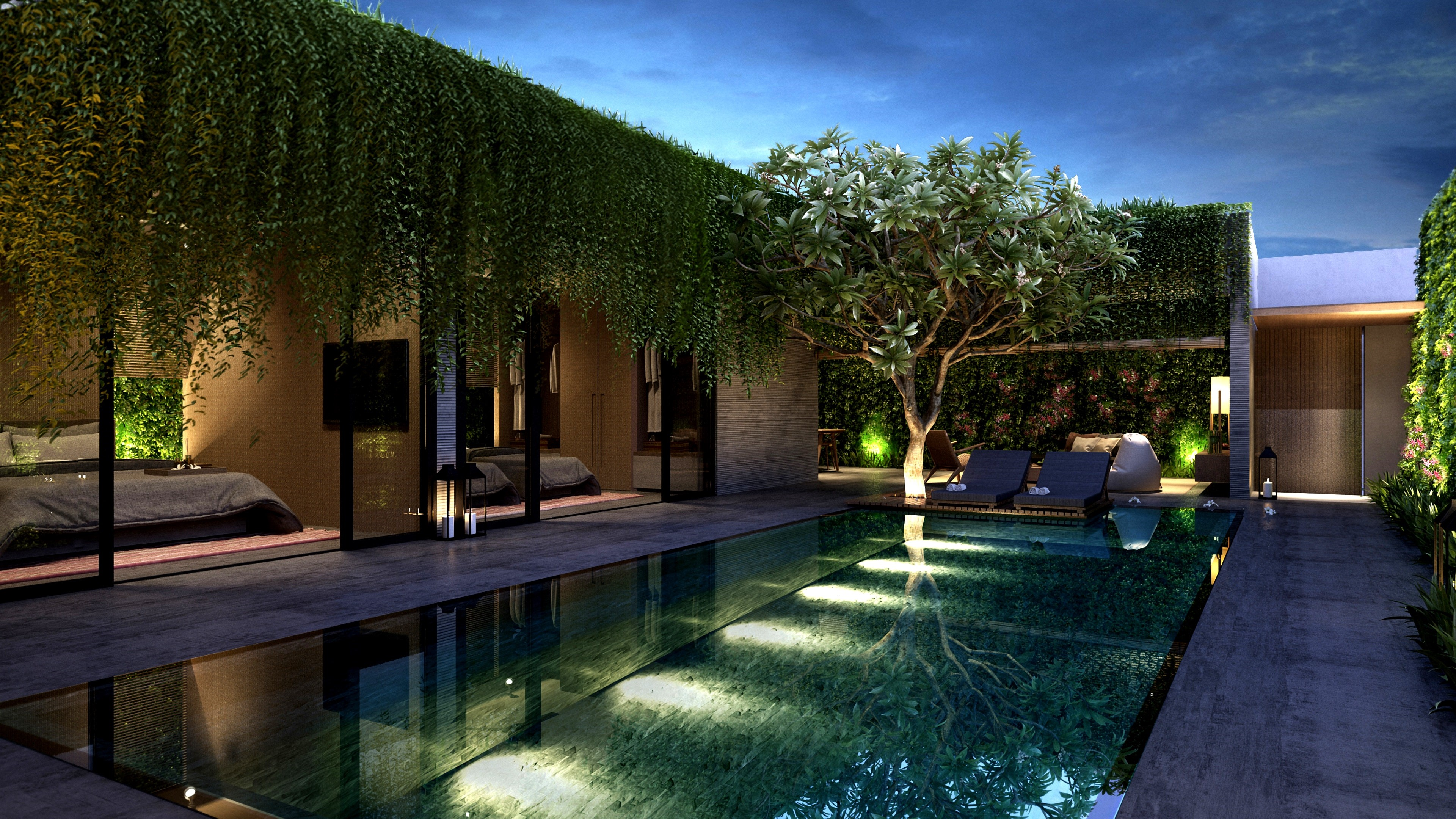 Landscaping and pool Lighting
